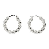 J.W.Anderson Jw Anderson Silver Twisted Hoop Earrings