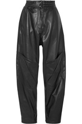Acne Studios Louiza Leather Tapered Pants Black