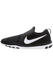 Nike Performance Free Connect Sports Shoes Black White