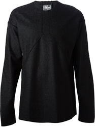 Lost And Found Raised Seam Top Black
