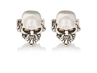 Alexander Mcqueen Men's Skull Cufflinks Black