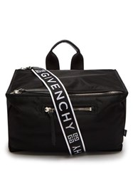 Givenchy Logo Print Messenger Bag Black White