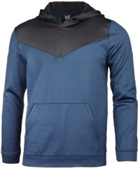 Ideology Id Men's Performance Colorblocked Half Zip Hoodie Created For Macy's Night Sky