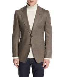 Tom Ford O'connor Base Herringbone Sport Jacket Brown