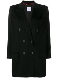 Moschino Vintage 2000'S Double Breasted Coat Black