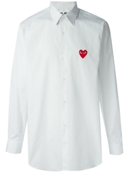 Comme Des Garcons Play Logo Detail Shirt White