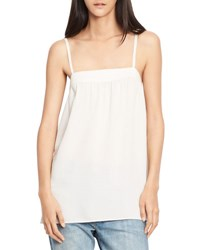 Vince Embroidered Silk Camisole Top Gesso