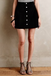 Alexa Chung For Ag Suede Mini Skirt Black