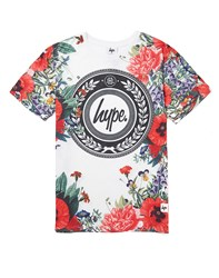 Hype. Border Floral T Shirt Red