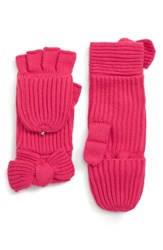 Kate Spade New York Bow Convertible Mittens Begonia Bloom