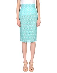 Daizy Shely Knee Length Skirts Turquoise