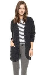 Velvet Garcelle Boucle Sweater Coat Charcoal