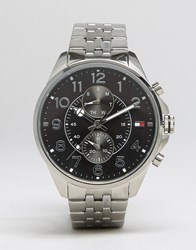 Tommy Hilfiger Dean Chronograph Bracelet Watch In Stainless Steel Silver