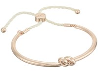 Guess Love Knot Slider Bangle Rose Gold White Bracelet Pink