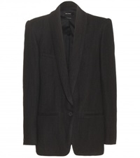 Isabel Marant Haylee Linen And Wool Blend Blazer Black