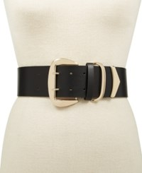 Inc International Concepts Oversized Buckle Stretch Belt Created For Macy's Black