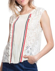 Plenty By Tracy Reese Ivy Lace Top Ivory