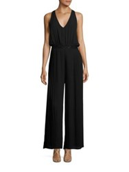 Laundry By Shelli Segal Embellished Pleated Jumpsuit Black
