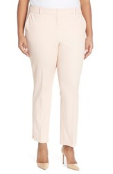 Plus Size Women's Halogen Slim Stretch Cotton Blend Ankle Pants Pink Peach