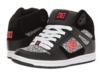Dc Rebound High Se Black Red White Women's Skate Shoes