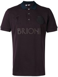 Brioni Logo Polo Shirt Red