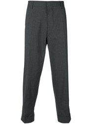 Bellerose Cropped Tapered Trousers Grey