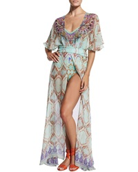 Camilla Printed Open Front Coverup Dress