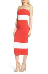 Trouve Women's Sweater Tube Dress Red Bloom