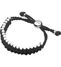 Links Of London Sterling Silver And Black Rope Friendship Bracelet