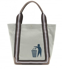 Anya Hindmarch Pont Small Keep Britain Tidy Canvas Shopper Grey