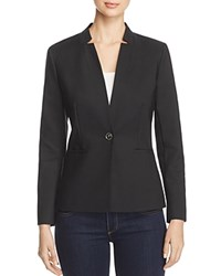 Vince Camuto Notched Stand Collar Blazer Rich Black