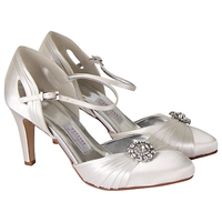 Rainbow Club Mariella Satin Court Shoes Ivory