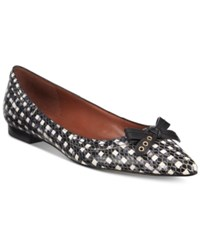 Cole Haan Alice Skimmer Bow Flats Women's Shoes Black White