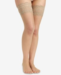 Berkshire Sheer Shimmer Thigh Highs Hosiery 1340 Candlelight Nude 01