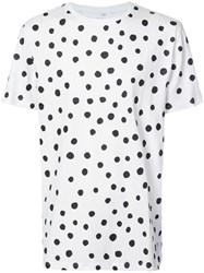 Stampd Dots Print Top Women Cotton L White