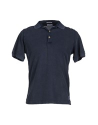 Original Vintage Style Topwear Polo Shirts Men Dark Blue