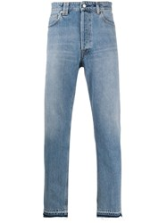 Golden Goose Stonewashed Tapered Jeans Blue
