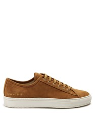 Common Projects Tournament Low Top Suede Trainers Tan