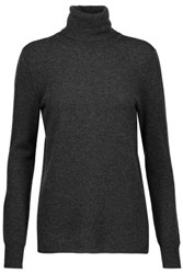 Magaschoni Ribbed Cashmere Turtleneck Sweater Charcoal