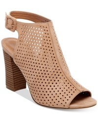 Madden Girl Beckie Perforated Slingback Sandals Women's Shoes Camel
