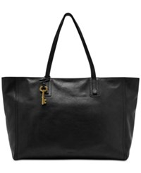 Fossil Emma Leather Work Tote Black