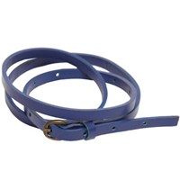 Lowie Skinny Leather Belt Blue