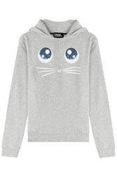 Karl Lagerfeld Choupette Big Eyes Printed Hoody Grey