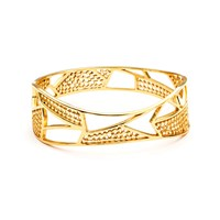 Azuni London Etrusca Geometric Sculptural Bangle Gold