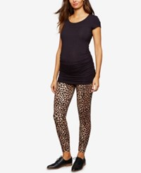 A Pea In The Pod Maternity Under Belly Jogger Pants Leopard Print