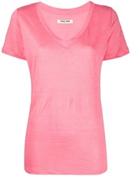 Max And Moi Linen V Neck T Shirt 60