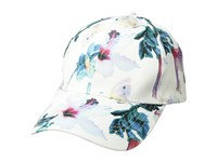 Collection Xiix Tropical Floral Satin Baseball White Baseball Caps