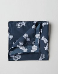 Asos Pocket Square With Pineapple Print Navy