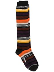 Missoni Striped Long Socks Black