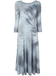 Raquel Allegra Big Sweep Tie Dye Dress Blue